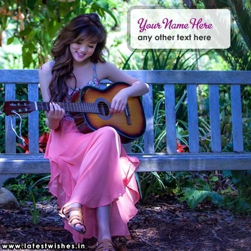 Beautiful Girl playing Guitar
