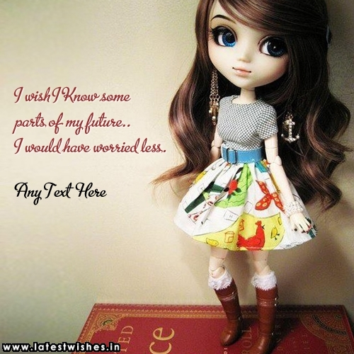 Sweet Stylish Girl with Quotes and Name