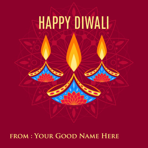 Happy Diwali Abstract Image With Name Edit