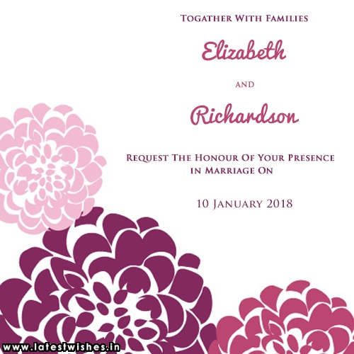 Invitation card create for my marriage