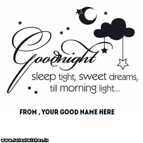 good night sleep tight name pictures