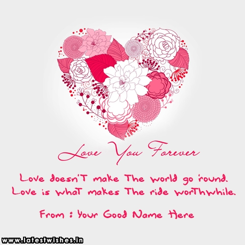 I Love U Forever Quotes For Himher With Lover Name
