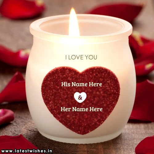 Beautiful love candles couple Name picture