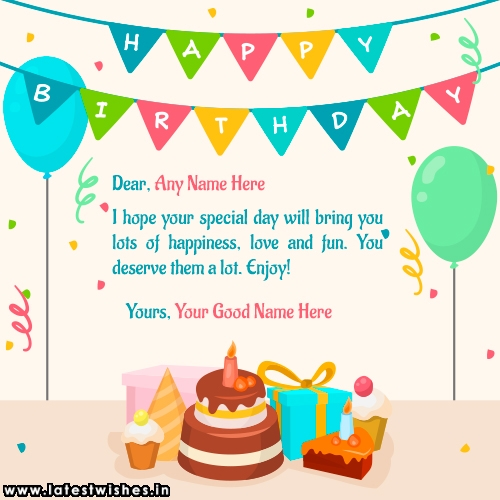 Write name on Special Day Birthday Wishes