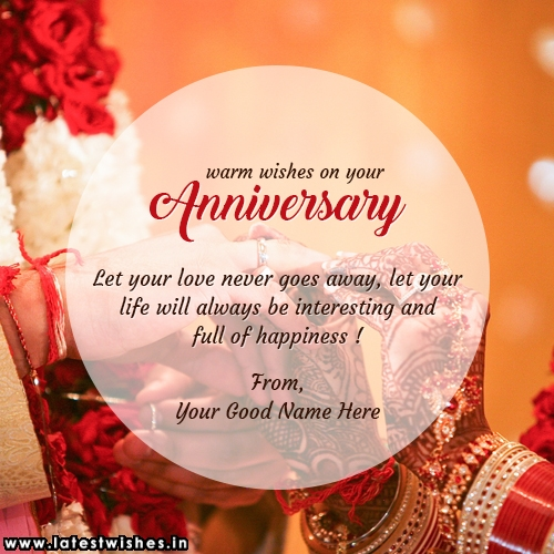 Warm wishes on your Anniversary