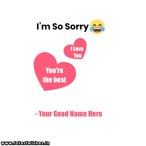sorry to lover