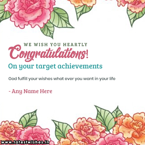 Target achievements wishes