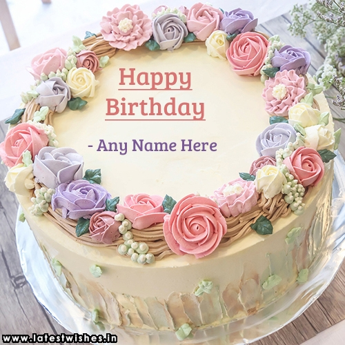 Birthday Cake With Name And Picture Editor Online Free | floweryred2 com