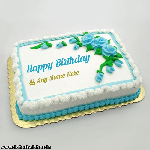 Rose Flower Happy Birthday cake Name Picture