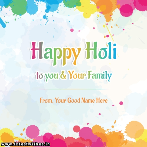 Happy Holi Wishes 2019 With Name